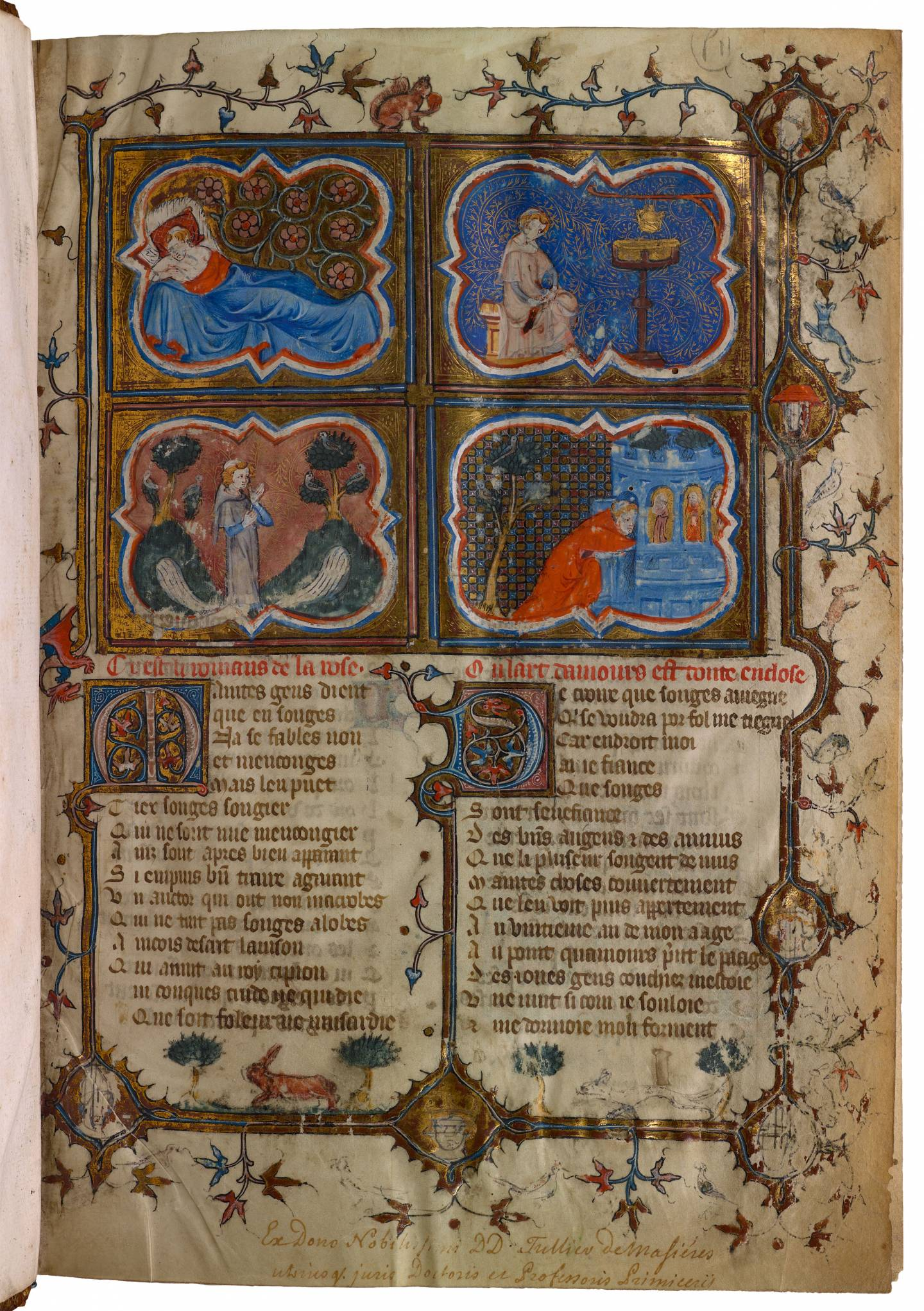 Page from ancient illuminated manuscript