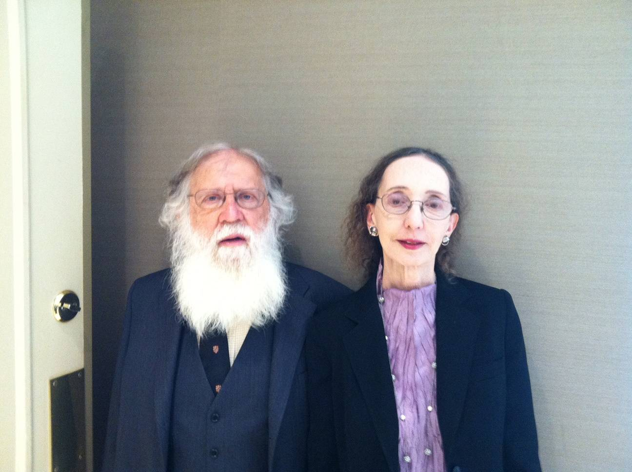 Charlie Gross and Joyce Carol Oates