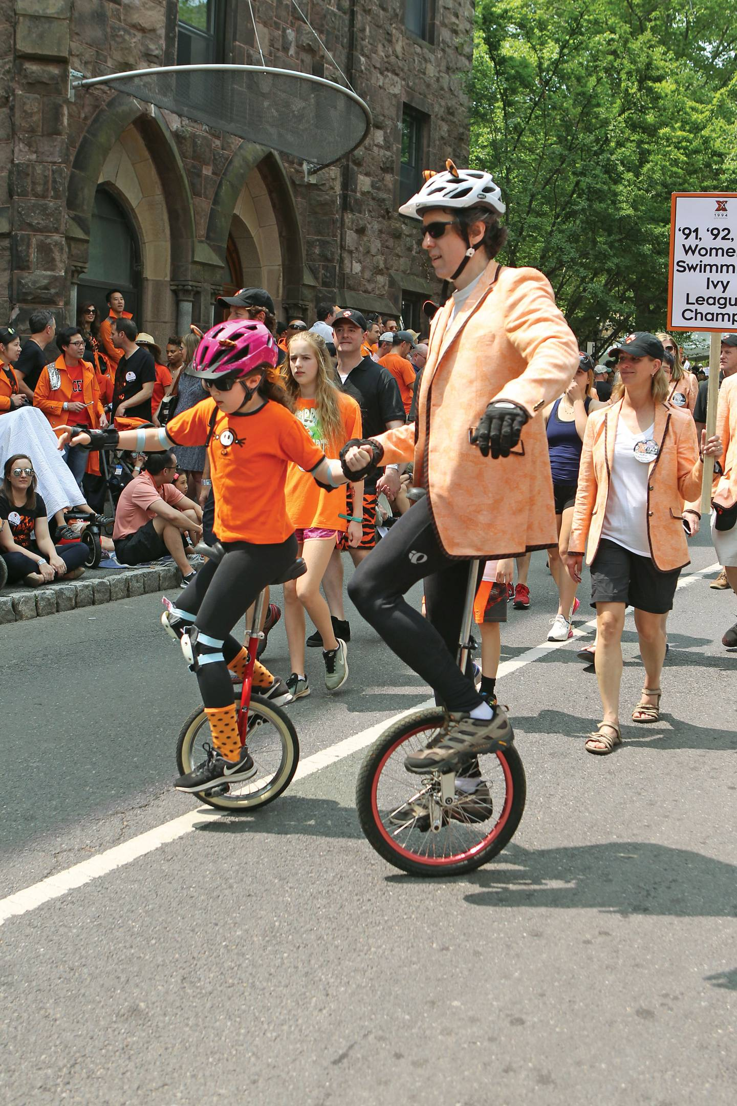 Steven Gubser on a unicycle at P-rade