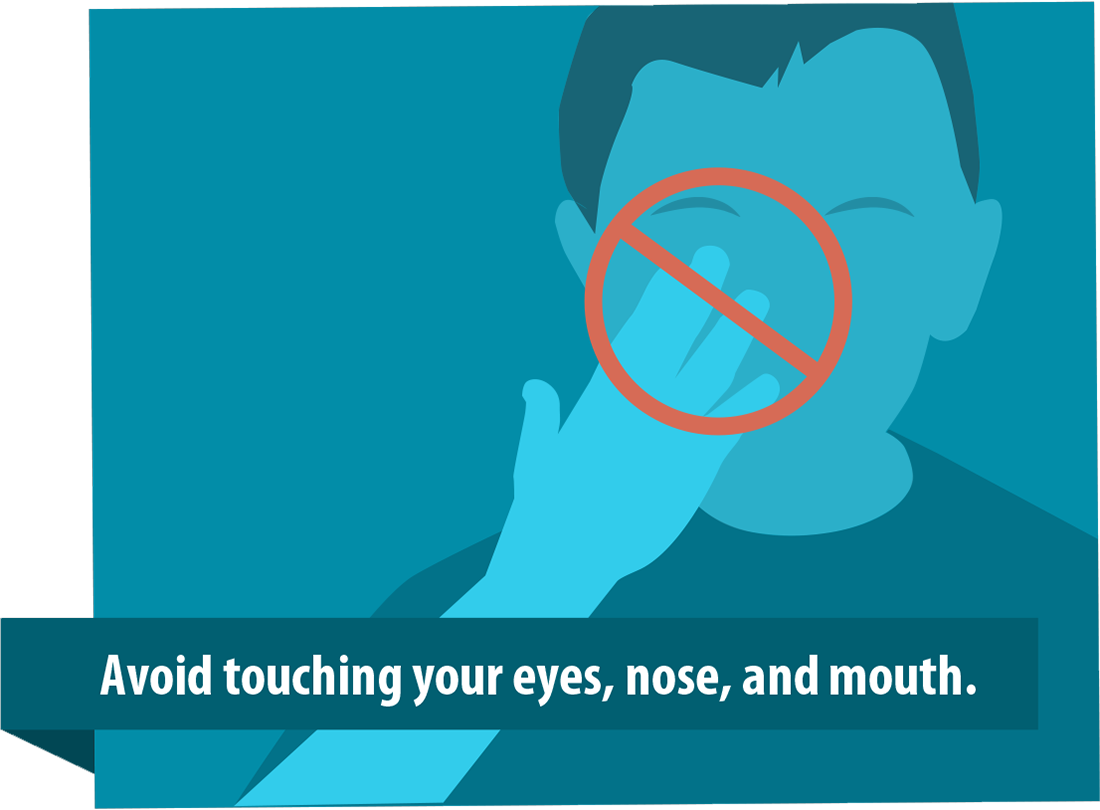 Avoid touching your face