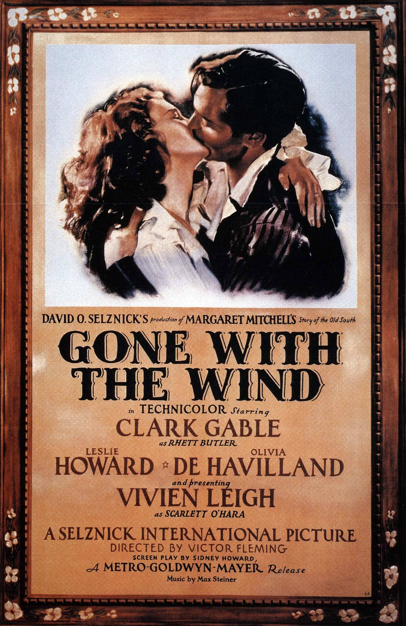 "Movie poster of ""Gone With the Wind"""