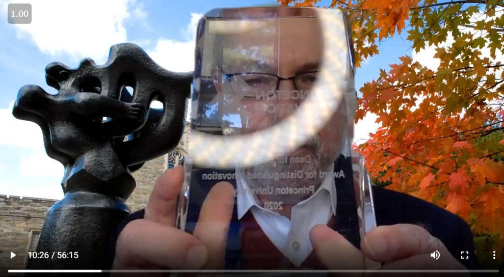 Pablo Debenedetti presents award