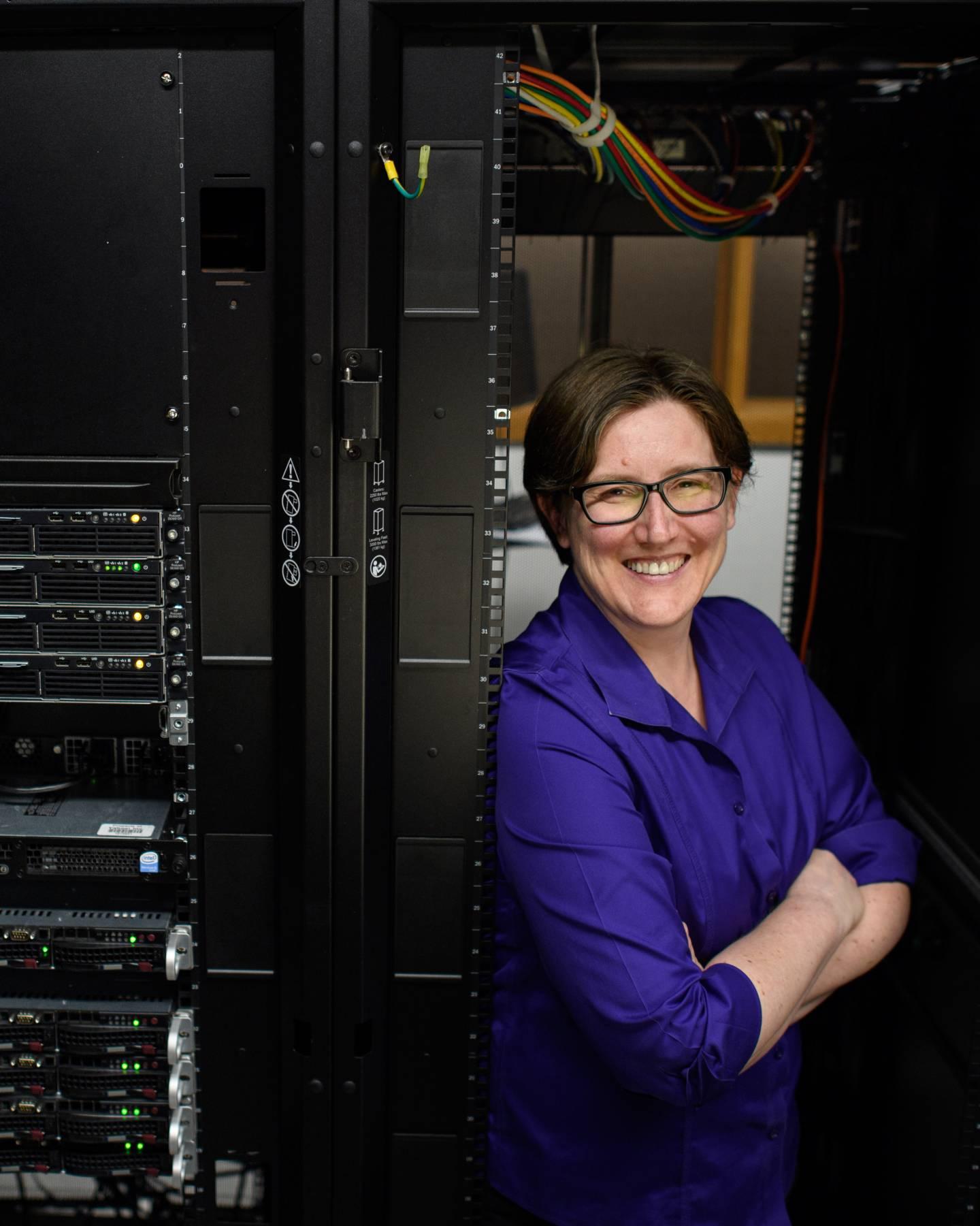 Jennifer Rexford in between mainframes