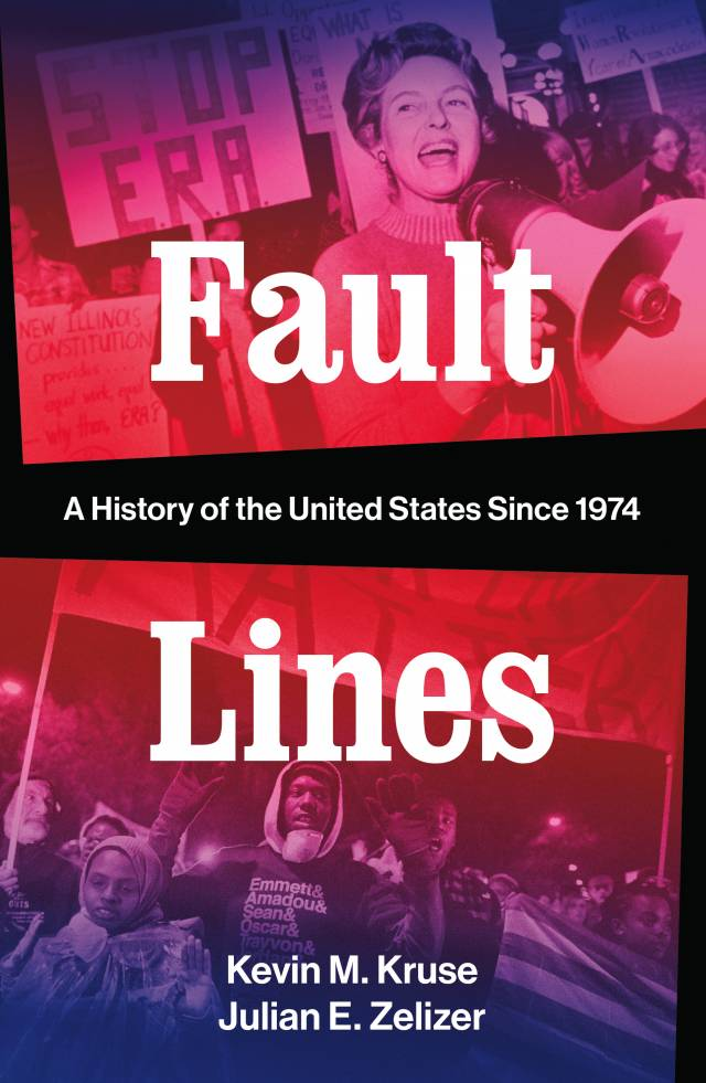 Cover for Fault Lines book depicting protesters
