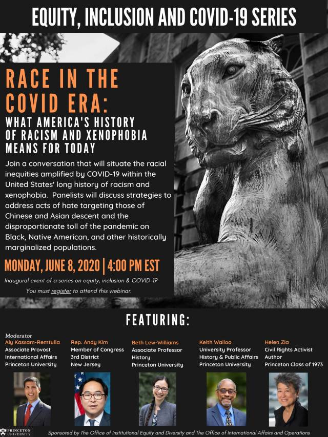 Race in the COVID Era: What America's History of Racism and Xenophobia Means for Today Join a conversation
