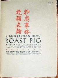 A dissertation on roast pig charles lamb