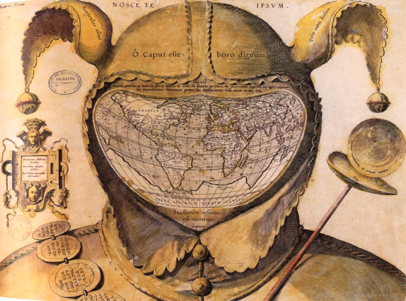 World Map In Renaissance.  CAR A map whose frame supplies an ironic commentary History 291 Course Home Page