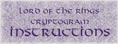 LotR cryptogram instructions
