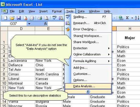 statistical analysis with excel pdf
