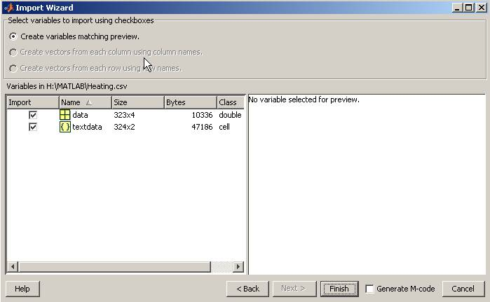 GETTING STARTED IN MATLAB (ver 1