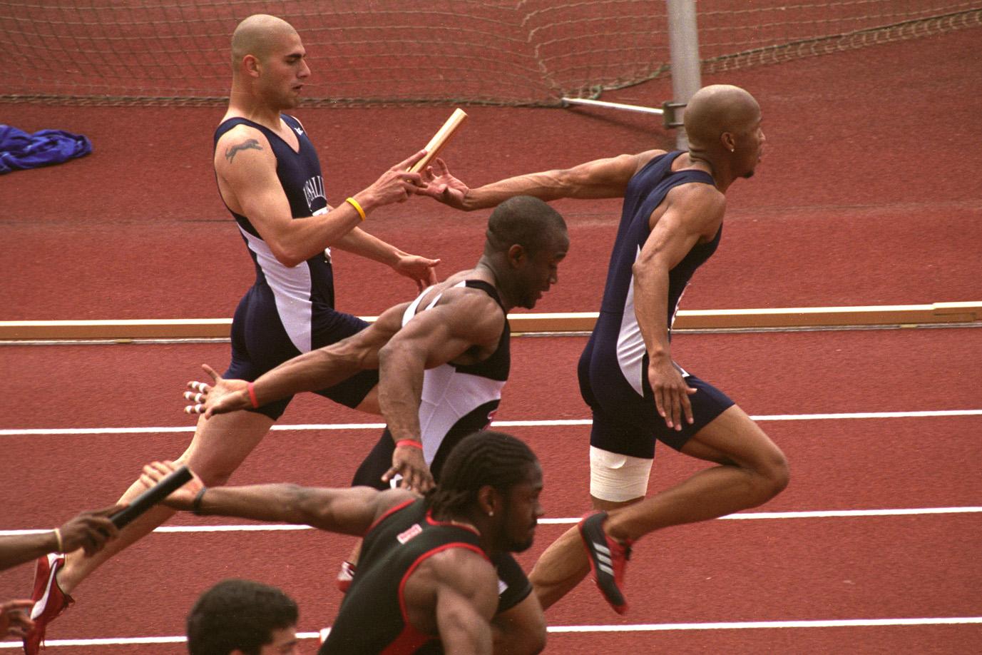 sports relay action sprint race photographs princeton exchange baton edu
